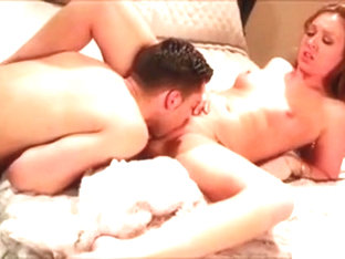 Sexy Coed Swallows Lucky Erected Penis