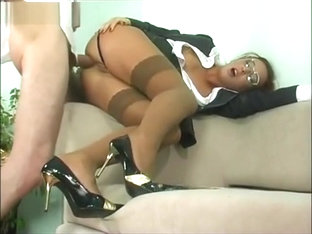 Business Woman Seduced to Anal