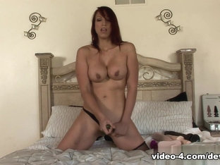 Crazy pornstar Nikki Hunter in Incredible Redhead, Stockings sex clip