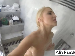 Alix Lynx in Alix Lynx Takes A Quick Post-Sex Shower - AlixLynx