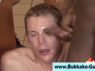 Gay group fuck and facial