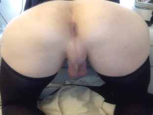 Solo sissy ass toying
