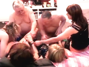 Amateur t-girl orgy part 2  with 4 girls and 2 guys.