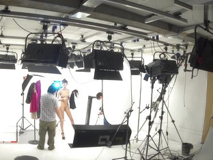 Backstage of russian model