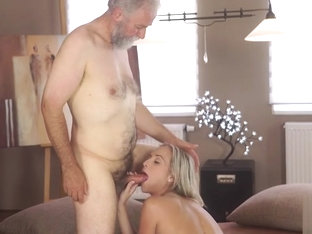 OLD4K. Cumshot all over tummy culminates sex of old lover...