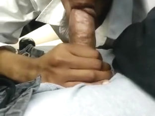 Friend let's me cum in her mouth, on her break!