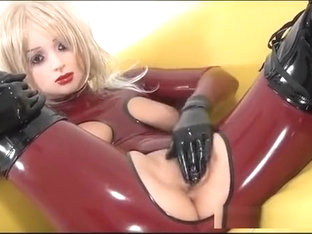 Rubber doll with boots
