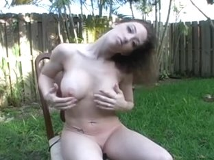 in the backyard- jerk off Encouragement