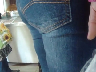 Touched big butt milfs in jeans 1