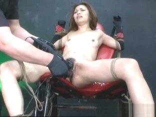 Submissive Asian Teen Dominated in Extreme BDSM Threesome With Toys