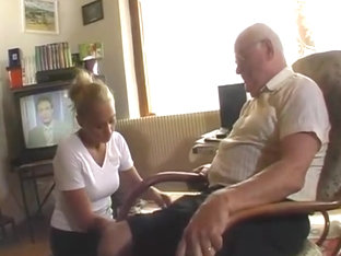 Grandpa andre sucked and fucked