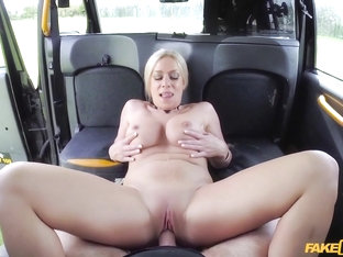 John & Sasha Steele in Squirting Blonde Fingered & Fucked - FakeTaxi