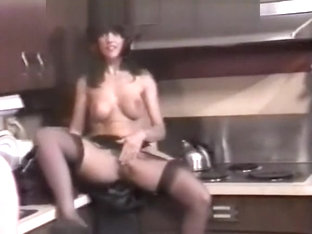 Stretched and fucked in the kitchen