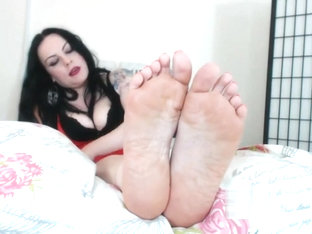 Ruined Orgasm For Meaty Wrinkled Soles Foot Fetish Femdom