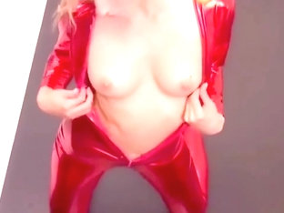 Red Latex Catsuit Fetish PMV Britney Spears Oops I Did It Again