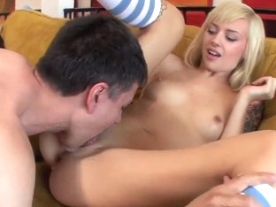 Amazing blonde Emma Mae fucks with her husband