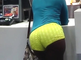 Ebony yellow booty shorts