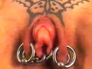 Pumping my pierced pussy and clit
