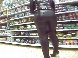full leather in supermarket