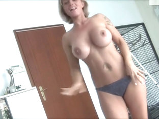 German Busty Amateur Sweet Pink Pussy Bikini Show and Fuck