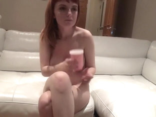Lovely redhead with perky tits Lola Gatsby can't resist a hard shaft