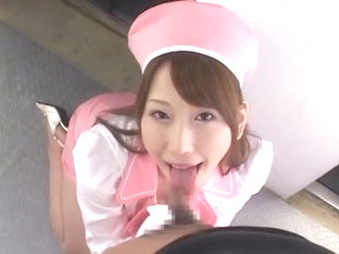 Crazy Japanese model Ai Sayama in Best Handjob, Cumshot JAV movie