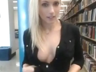 Horny girl library cam