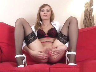 Sexy Czech Sweetie Opens Up Her Narrowed Pussy To The Peculi