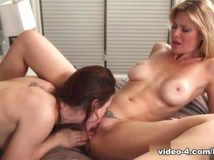 Fabulous pornstars Kate Kastle, Karlie Montana in Crazy Cunnilingus, Big Tits adult video