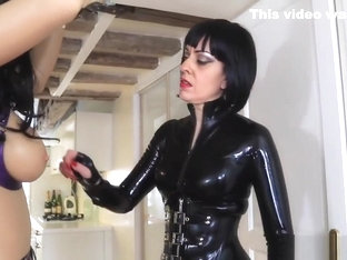 Whipping My Slutty Rubber Doll - Lady Bellatrix flogging Gaelle Lagalle