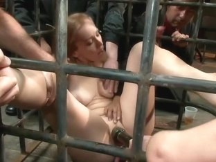 Hottie stuck in Cage