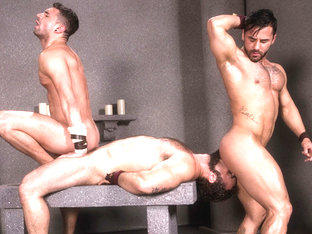 Erectus XXX Video: Jaxton Wheeler, Bruno Bernal, Ian Greene - FalconStudios