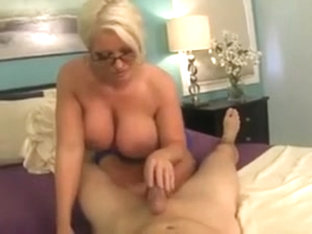 Mature alura gets cum on her tits