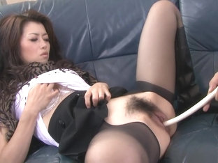 Kinky slut gets various vegetables shoves in her tight cunt