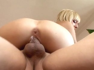 Wild Emma Mae rides her hot pussy on this hard prick