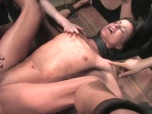 Cecilia Vega gets ass fucked in the roomfull of viewers