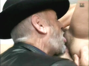 Teen fucked by old man in her hairy pussy