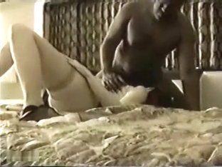 White woman gets two big black cocks in a hotel room hour plus fuck