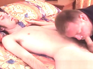 Amateur young butt buddy cock sucked by an older deviant