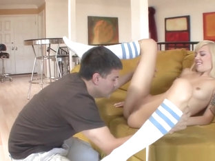 Catching Stepdaughter Masturbating In The Living Room