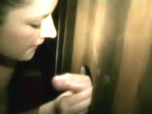 Pregnant HOTTIE at the Gloryhole takes MULTIPLE COCKS