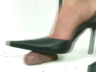 High heels cock trample
