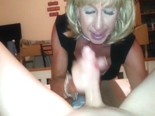 Amazing homemade shemale clip with Blowjob, Amateur scenes