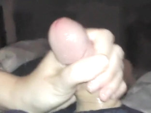 tight grip homemade handjob jerk off and cumshot small hands