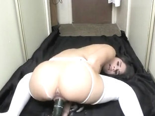 Me Masturbating with a Cucumber after dyeing my hair black