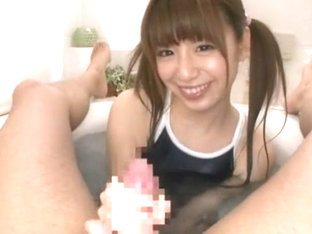 Crazy Japanese girl Riri Kuribayashi in Horny Stockings/Pansuto, Handjobs JAV clip