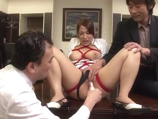 Amazing Japanese slut Chiharu Nakai in Horny BDSM, Office JAV clip