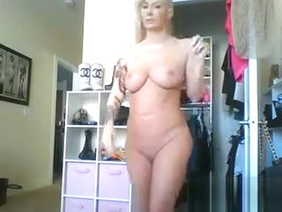 Sexy Blonde Flight Attendant On Webcam