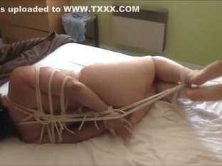 Ghis Hogtied in Crotchrope and neckrope