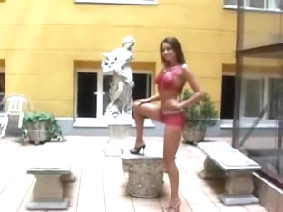 Zafira - Body Painted Nude & Walked in Public Part 1